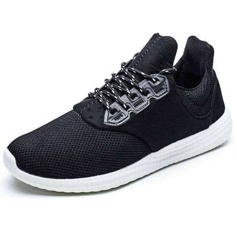 Men's Ultra Light Mesh Trainer Sports Walking Sneakers Black