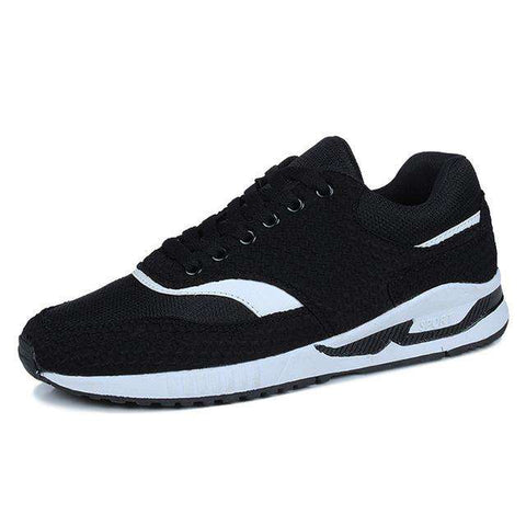Men's Breathable Training Sport Walking Sneakers Black