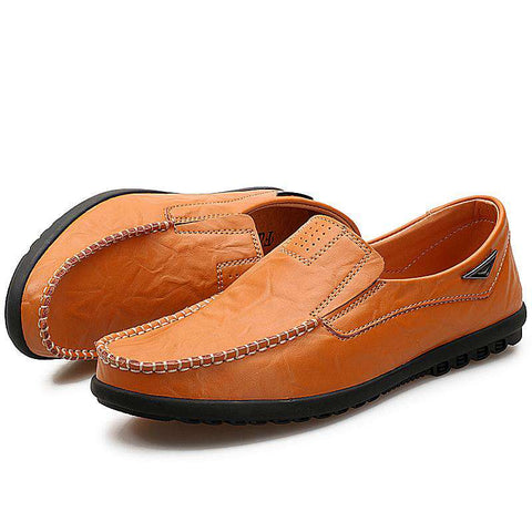 Casual Men Loafers Moccasins Genuine Leather Flats Shoes