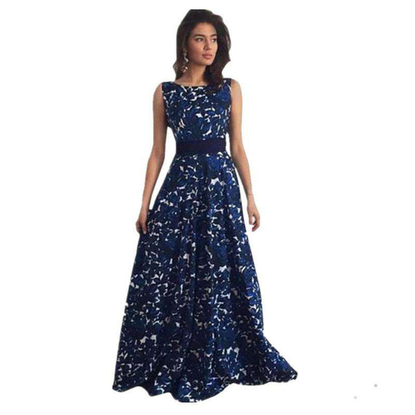 Elegant Floral Long Formal Maxi Party Ball Gown Dress Female