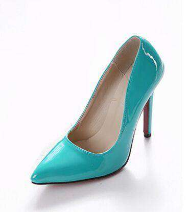 12cm Pointed Toe Leather Party High Heels