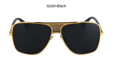 New Vintage Luxury Oversize Square Men Sunglasses