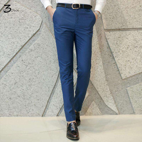 Pure color leisure casual pants
