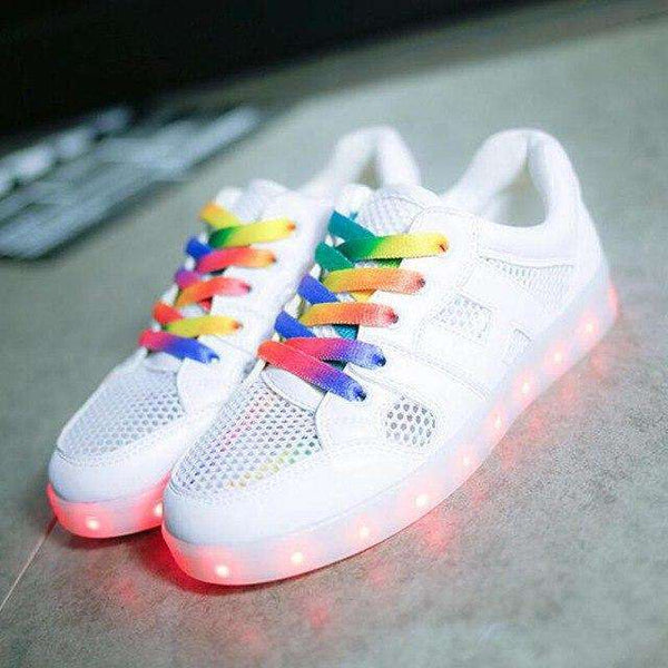breathable LED USB chargable Luminous shoes