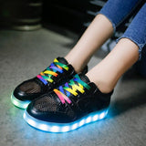 USB Chargeable Breathable LED Luminous Shoes