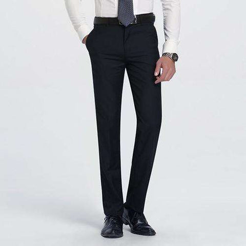 Men's  Flat-Front Slim Fit Wrinkle-Resistant Dress Pant Grey