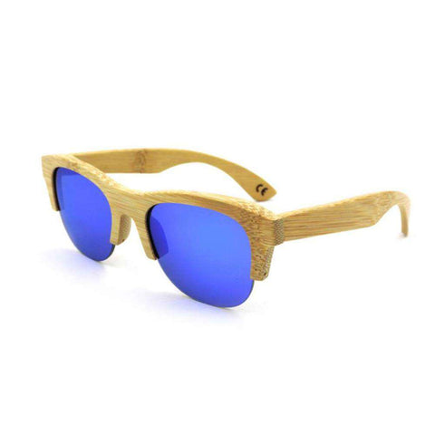 Environmental Protecting Mirror Sunglasses Wooden Frame Multi Color Unisex