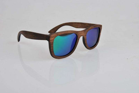 Green Lens Wooden Sunglasses For Women