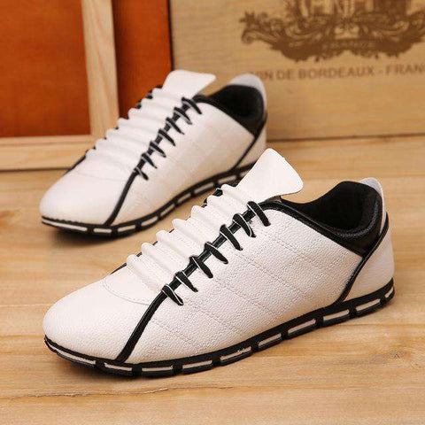 Men's Casual Canvas Black White Outdoor Breathable Shoes