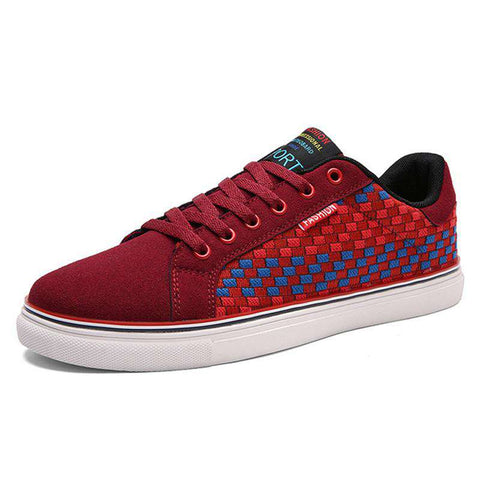 Men's Lightweight Handmade Sneakers Red