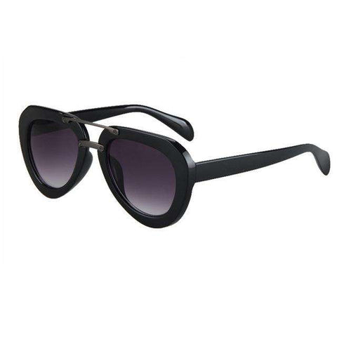 Cat Eye Wooden Frame Sunglasses For Women UV Protection