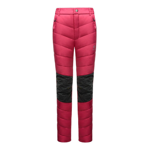 Women Winter Thick Thermal Warm Duck Down Hiking Pants