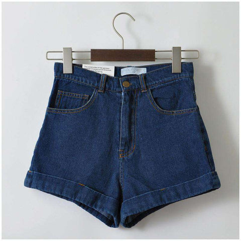 Cuffed Style Euro Jeans Vintage Denim Shorts