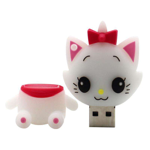 White Cat Model Pen Drive 4GB 8GB 16GB 32GB 64GB USB Flash Drive Thumb Pen Drive Personality Gift