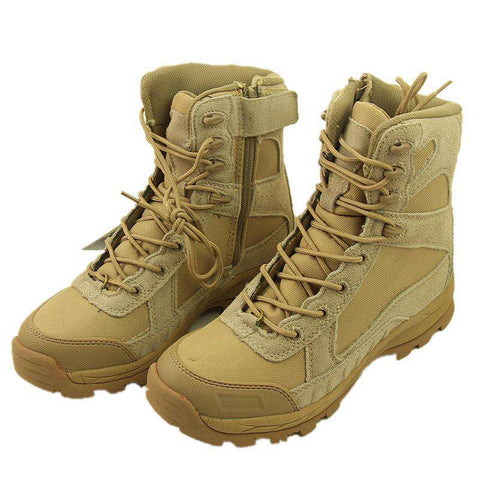 men's Genuine Leather Tactical Combat Military Tactical Hiking Boots