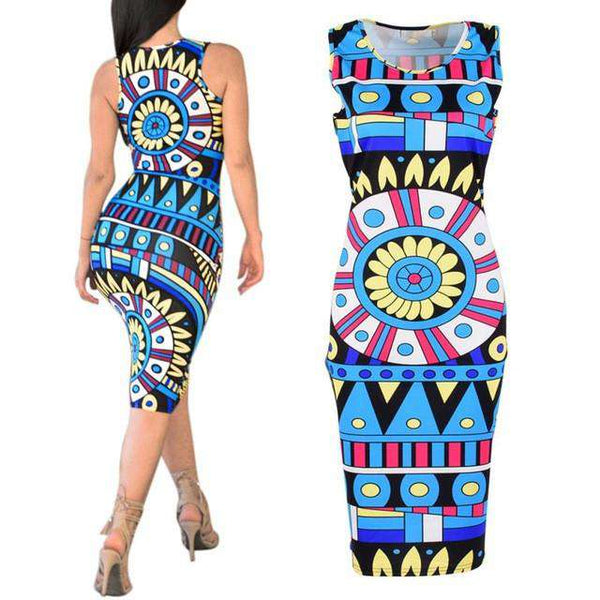 Bodycon Bandage Sleeveless Party Cocktail Short Mini Dress Blue