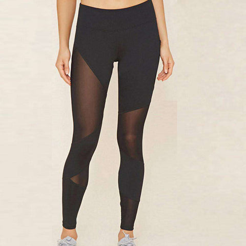 High Waist Elastic Sports Gym Yoga Running Tights