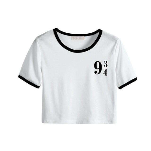 Crop Top Letter Print T Shirt Women Short  Sleeve Tops  O-neck Loose
