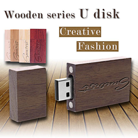 USB Flash Drive Wooden Material Pen Drive 16GB USB Stick Creative Gift Flash USB Pen Drive 32GB
