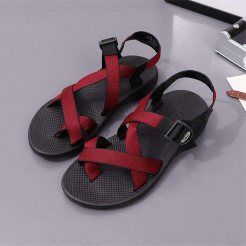 Casual Beach Toe Knob Sandals Red For Men