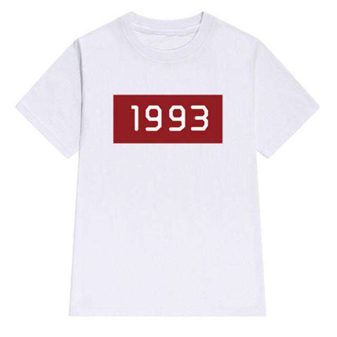 1993 Digital Print O-neck Short Sleeve Women's T-shirt