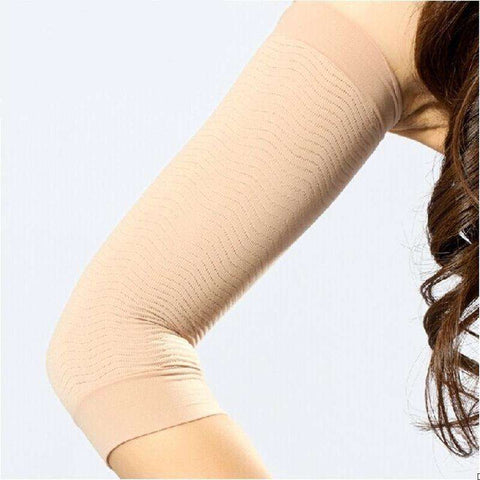 1Pair Fat Lose Buster Trimmer Belt for Arm Shaper Beige