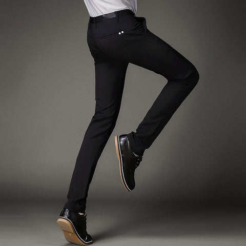 Slim Fit Black Party Stretch Skinny Dress Pant