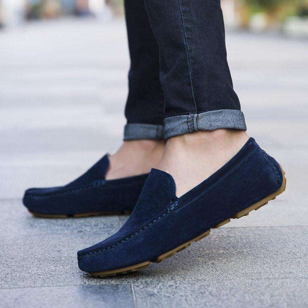 Casual Men Flat Leather Loafer Soft Moccasins Shoes