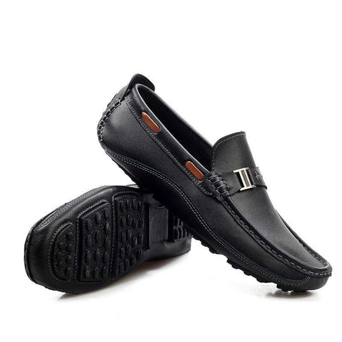 Men's Leather Slip-On Loafers Handmade Moccasins