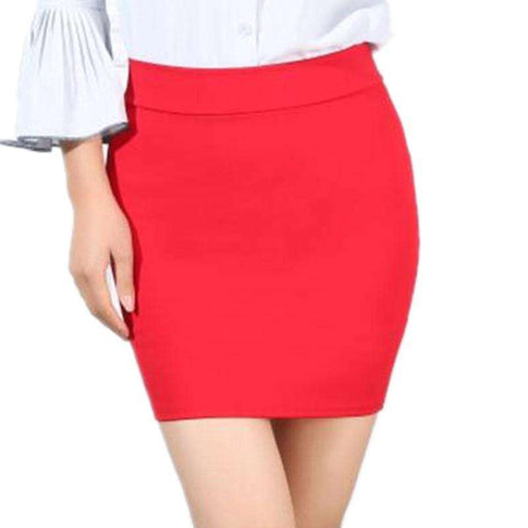 Bag Hip Slim Light Step Skirt Red