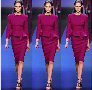 Irregerlar Two Piece Dress Purple