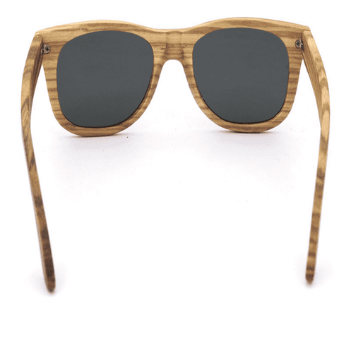 Men Polarized UV400 Wood Sunglasses Round Frame Handmade