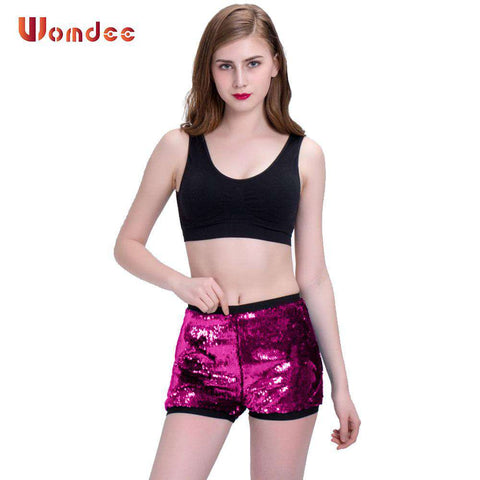 Women High Waist Elastic Shorts