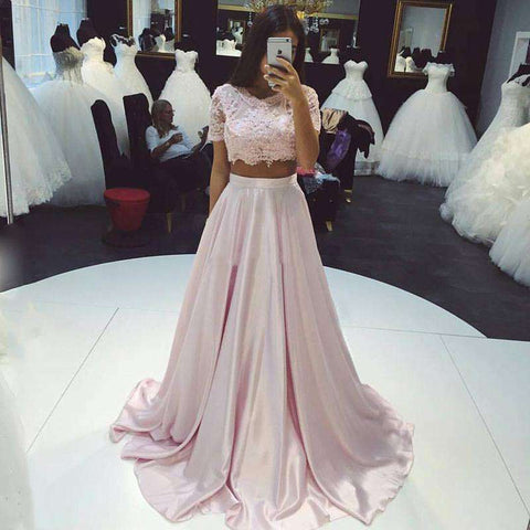 Baby Pink Floor Length Maxi Prom Party A Line Skirt