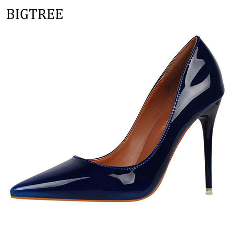 High Heels Patent Leather Red Bottom Female Shoes