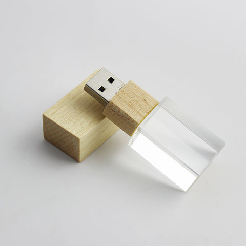 USB Flash Drive Wooden Shape 8GB 16GB Pen Drive 32GB 64GB USB 2.0 Memory Stick Glass Bottle Flash Disk U Disk Gift