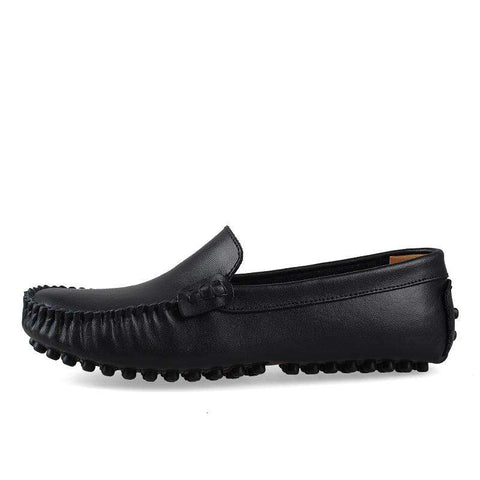 Casual Men Loafers Moccasins Shoes Genuine Leather Flats Shoes
