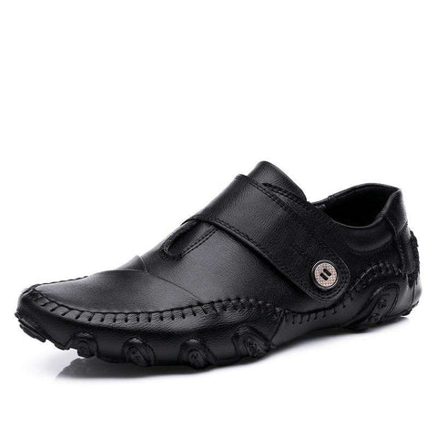 Men's Casual Shoes Genuine Leather Car Driving Loafers Flats
