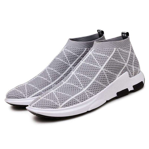 Men's Breathable Air Mesh Casual Sneakers White