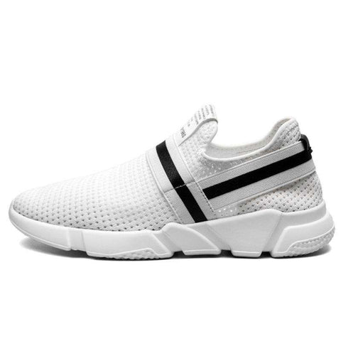 Men's Comfortable Breathable Trainers Sports Walking Sneakers White