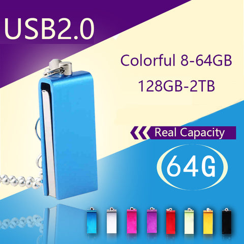 Waterproof Metal USB Key Pen Drive 64GB 128GB Memoria USB Flash Drive 1TB 2TB 16G 32G Flash Card Memory Stick Creative