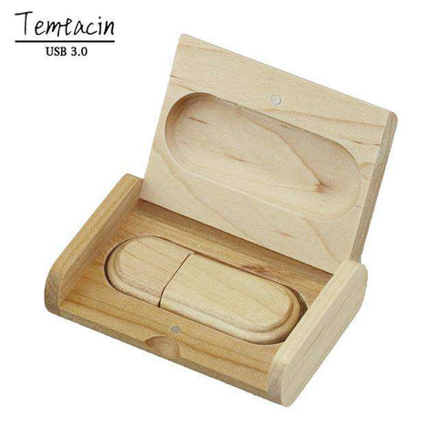 Wooden 8GB ,16GB ,32GB USB Flash Drive 64GB, 4GB Pen Drives Maple Wood+Box USB 3.0 Stick Gift