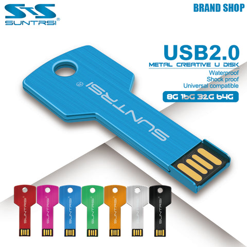 USB Stick Metal Pen Drive 64GB Key USB Flash Drive 16GB Waterproof Real Capacity USB Flash Personalized Logo