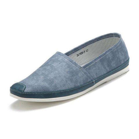 Men's Blue Slip-On Flat Shoes Casual Breathable Loafers