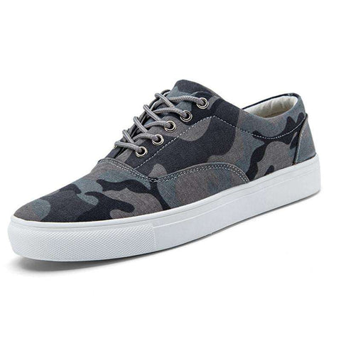 Men's Flat Canvas Camouflage Soft Thick Soled Outdoor Shoes
