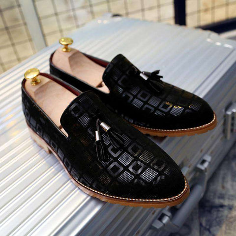 Men Casual PU Lining Print Soft Leather Loafers