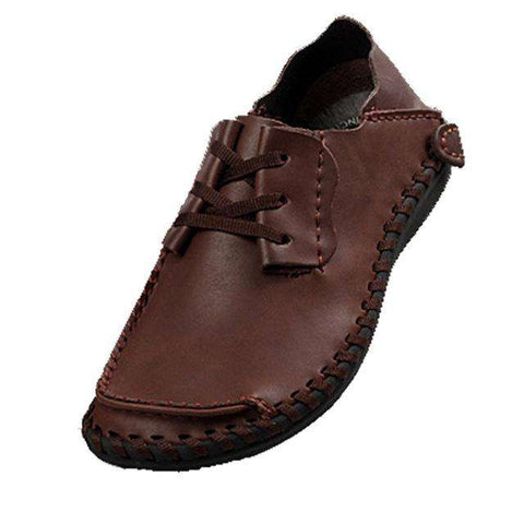 Men's Genuine Leather Boat Casual Mocassins Flats