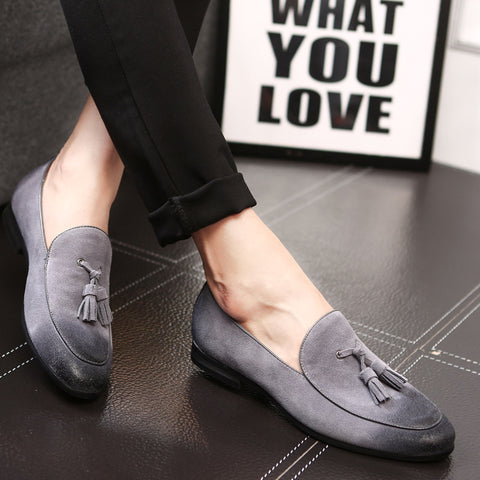 Suede Leather Loafers British Men's Casual Shoes