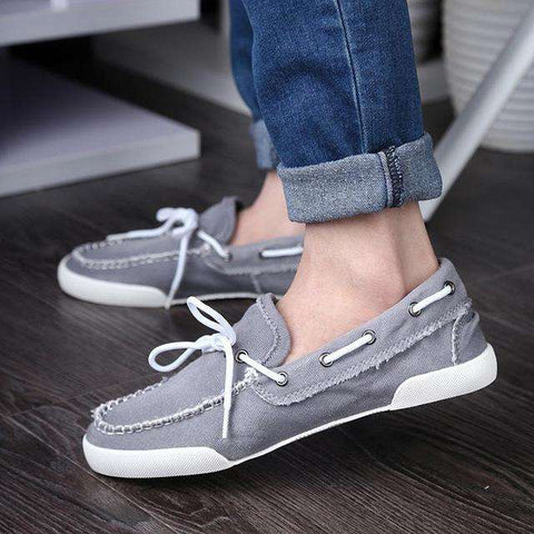 Comfortable Lightweight Casual Patchwork Flat Canvas Loafers