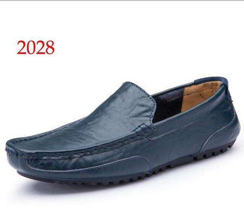 Men's Loafers Soft Genuine Leather Flat Boat Shoes